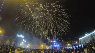 Фейерверк в городе Октябрьский  2019 #gopro 7 (ночная съёмка)