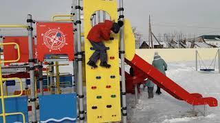 Прогулка на новой детской площадке//Парк Давлеканово//С сыном вдвоём//