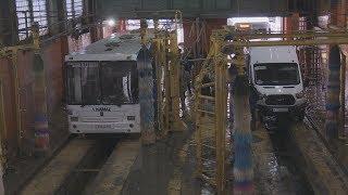 UTV. Уфимские автобусы и трамваи дезинфицируют два раза в день. Пассажиры в безопасности
