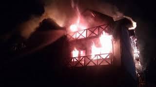 Возле Буковеля в отеле вспыхнул пожар, эвакуировали 25 туристов.