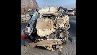 В массовой аварии под Уфой столкнулись несколько иномарок и грузовик