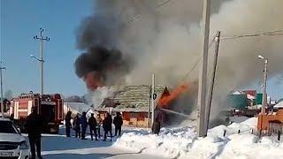 В Бирске сгорел частный дом