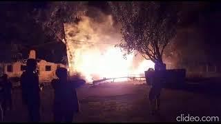 Пожар на ул. Пороховая в Астрахани