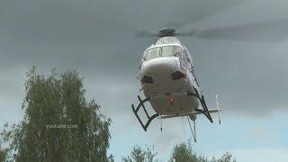В Уфе установили первую вертолетную площадку на территории медучреждения