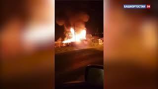 В Башкирии взрыв в загоревшемся гараже привел к гибели отца семейства: ВИДЕО