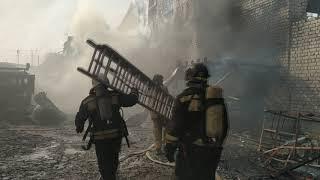 2019 03 16 пожар в цехе по производству полистирола в Благовещенске