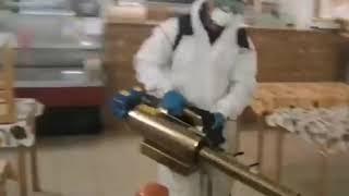 Сибай: обработка сибайского рынка от коронавируса