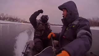 Подводная охота в декабре на реке Белой.