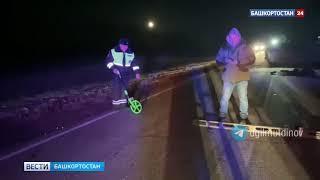 Мужчину сбили насмерть на темной дороге в Башкирии -  видео