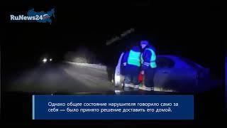 Дед Мороз, который плохо себя вел: инспекторы задержали пьяного аниматора за рулем / RuNews24