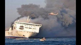 Пожар на корабле в Балтийском море. Что на самом деле происходит с пожаром на пароме.