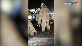 Появилось видео с места ДТП в Уфе, в котором погибли два человека