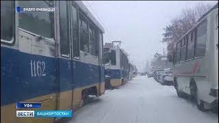 На города и районы Башкирии сегодня обрушился снегопад