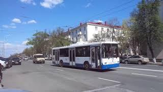 russia trolleybus уфа башкирия троллейбус день победы  9 мая 2021