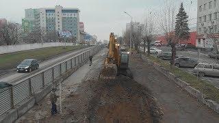 UTV.После трех лет реконструкции на одной из центральных улиц Уфы появятся тротуары и велодорожка