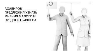 Р.ХАБИРОВ ПРЕДЛОЖИЛ УЗНАТЬ МНЕНИЯ МАЛОГО И СРЕДНЕГО БИЗНЕСА