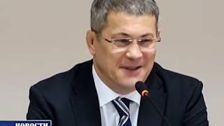 Приезд Радия Хабирова и назначение  и.о. главы администрации Чишминского района Ришата Мансурова