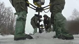 Подрыв льда в Башкирии военными инженерами ЦВО для защиты населенных пунктов от паводка