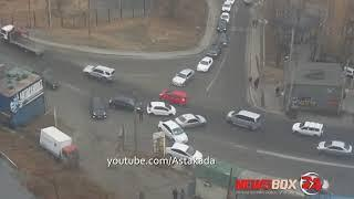 Авария на Зеленом углу попала на видео