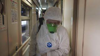 UTV. В Уфе дезинфицируют вагоны поездов, а для защиты пассажиров создают запасы масок