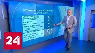 """""""Погода 24"""": жаркая погода вернется в центр страны - Россия 24"""