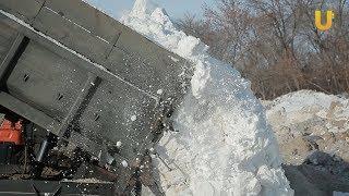 Новости UTV. Куда увозят снег в Стерлитамаке?