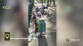 Кто виноват: В Уфе территория детской площадки превратилась в мусорный полигон