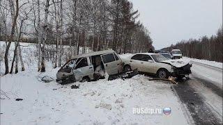 #15 Очень страшные Аварии ЗИМА Январь 2016 - ДТП Car Crash Compilation winter HD