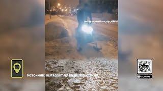 «По тротуарам только так»: уфимец передвигается по городу на снегоходе
