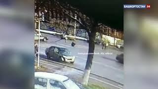 Житель Уфы разыскивает водителя, который скрылся, сбив его на пешеходном переходе: ВИДЕО