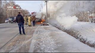 В Туймазах сгорел автомобиль
