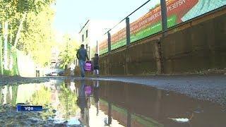 Путь к школе №49 в Уфе превращается в озеро