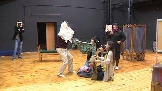Репетиция спектакля «Там, где сбываются мечты» в театре «Нур»