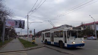 russia trolleybus уфа башкирия троллейбус 1 мая 2021 проспект октября театр кукол макдоналдс вечер