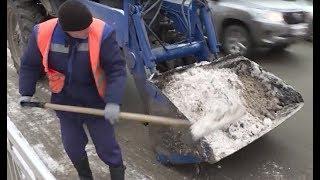 На Уфу обрушился зимний снегопад, коммунальные службы вышли на улицу ещё накануне