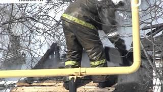 В Бирске на ул. Чкалова случился пожар в двухквартирном жилом доме