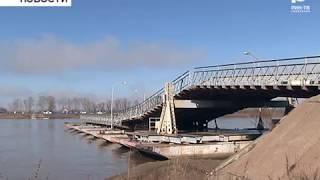 В Бирске начали устанавливать понтонный мост через Белую