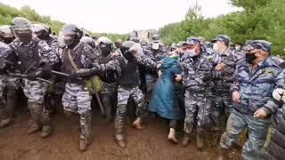 В Башкирии запинали женщин. Борьба за природный памятник Куштау обостряется