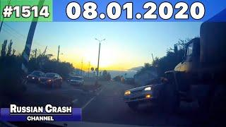 ДТП. Подборка на видеорегистратор за 08.01.2020 Январь 2020