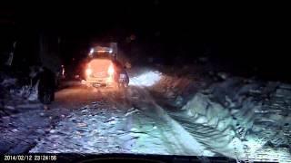 Уфа-Белорецк ,Межгорье.Вечная пробка в снегопад.