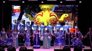 Выступления фольклорных ансамблей на концерте, посвященном 100-летию ТАССР, в Мензелинске