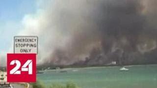 Режим ЧС объявлен на Гавайях из-за крупного природного пожара - Россия 24