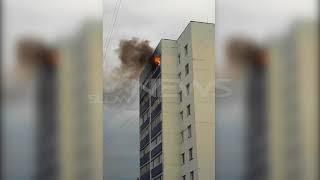 В Мелеузе 20 июня днем сгорела квартира на последнем этаже Видео