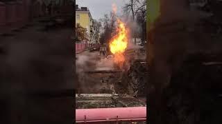 В Уфе поднялся факел огня высотой в 3 метра