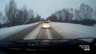 Страшное ДТП 1.03.2017 на трассе Уфа - Оренбург около деревни Помряскино