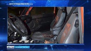 В Башкирии пассажира машины убило залетевшим в салон бревном