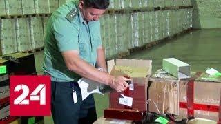 На складе в Подмосковье нашли контрабандный алкоголь на 13 миллионов рублей - Россия 24