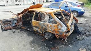 Сгорел автомобиль в Учалах