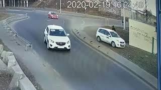 Пешеход успел. Таксист 80 уровня. Одесса. Трасса Север-Юг. ДТП. Авария. Новости Одессы.