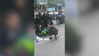 В Уфе пьяный водитель на БМВ сбил пешехода и устроил массовую аварию